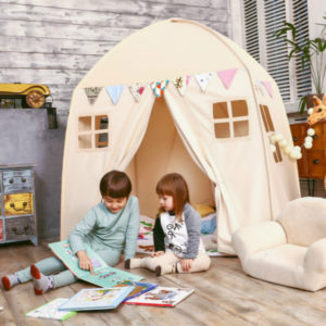 Love-Tree-Kid-Play-House-Cotton-Canvas-Indoor-Children-Sleeping-Tent-Large-House-Beige-House-toy